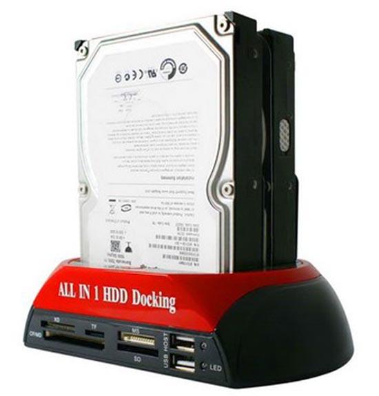 Rumah Hardisk 2,5/3,5 inci, Multi Card Reader dan USB